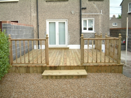 And after! With stylish decking and guard rail.